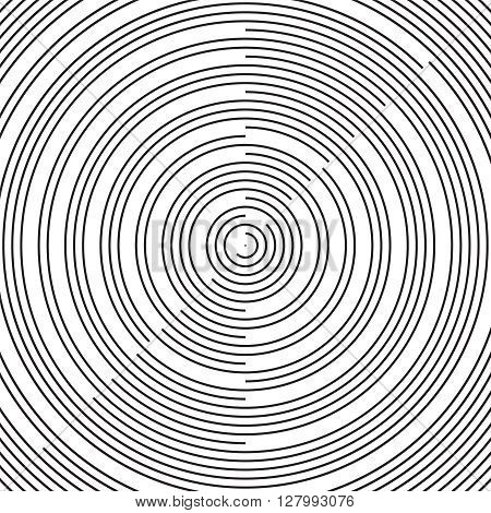RAdial pattern background Vector radial black background pattern on white. Abstract vector black and white halftone background.