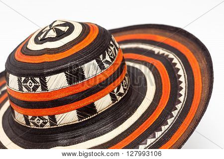 "Traditional hat from Colombia called ""Sombrero vueltiao"" poster"
