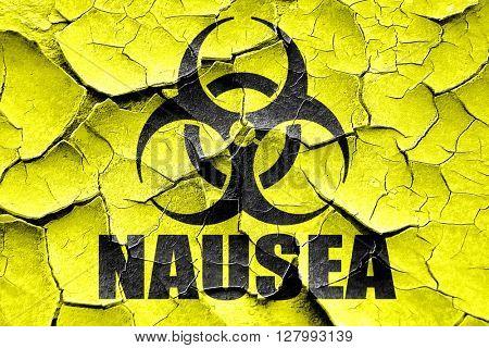 Grunge cracked Nausea concept background