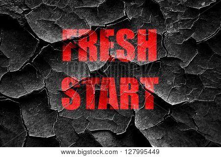 Grunge cracked Fresh start sign