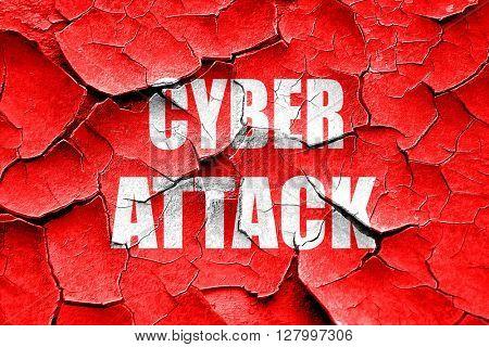 Grunge cracked Cyber attack background