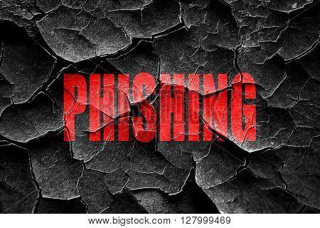Grunge cracked Phising fraud background