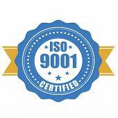 ISO 9001 certified - quality standard seal poster
