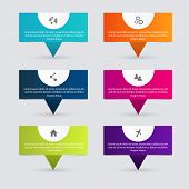 Vector colorful info graphics for your business presentations. Can be used for info graphics graphic or website layout vector numbered banners diagram horizontal cutout lines web design. poster