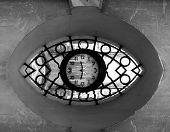 time series - illustrations depicting various conceptual images portraying clocks and time poster
