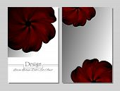 Set of vector design templates.Corporate Identity kit or business kit with artistic abstract colorful design for your business. Vector abstract booklet cover. Beauty brochure. Red flower poster