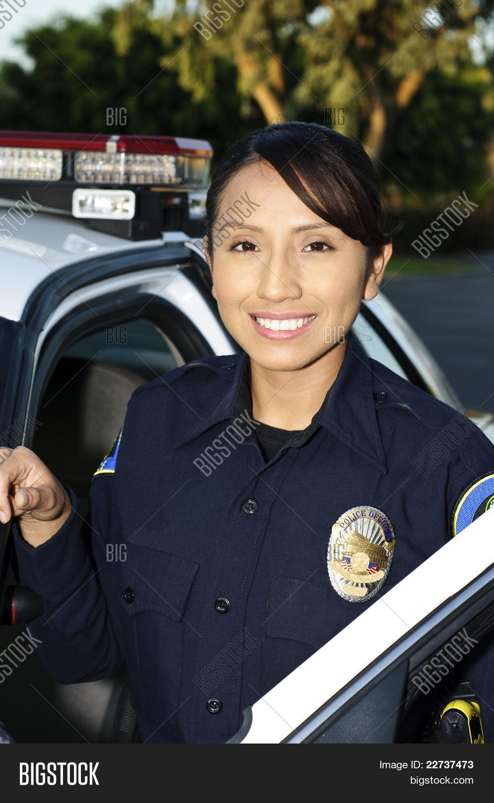 Smiling Police Officer Image Photo Free Trial