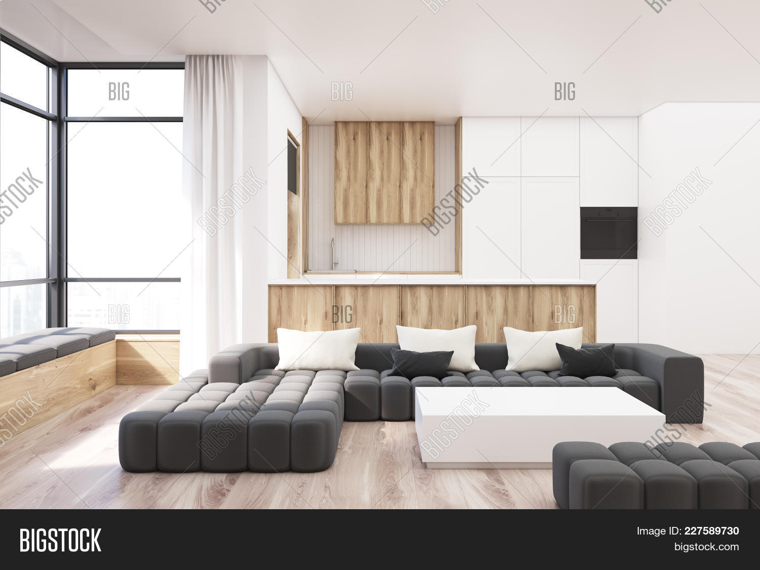 White Wooden Living Image Photo Free Trial Bigstock