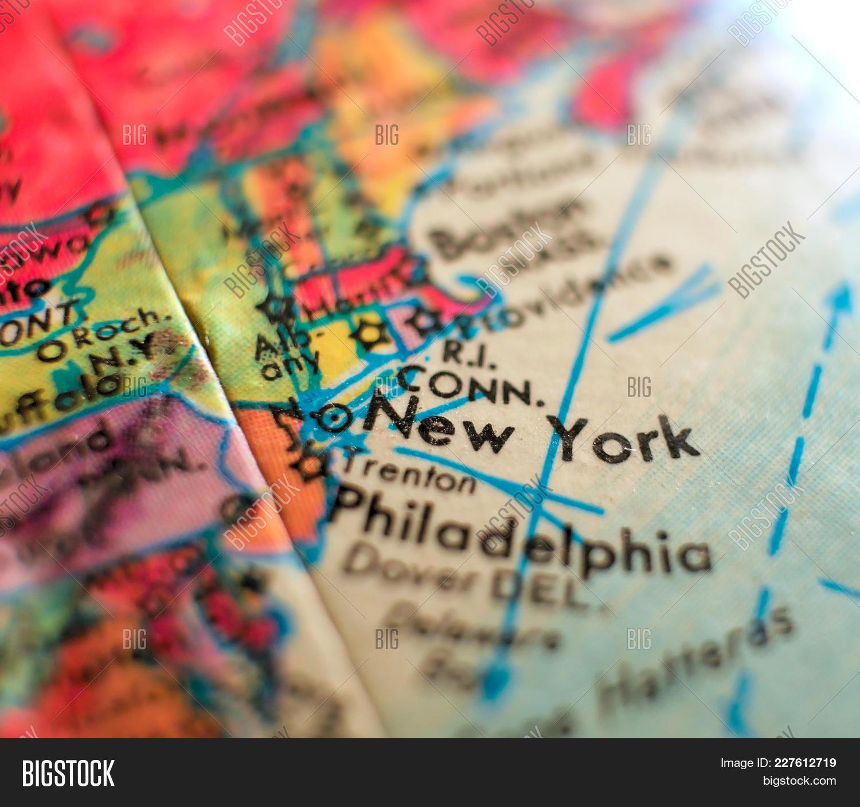 State New York Map Usa Image & Photo (Free Trial) | Bigstock