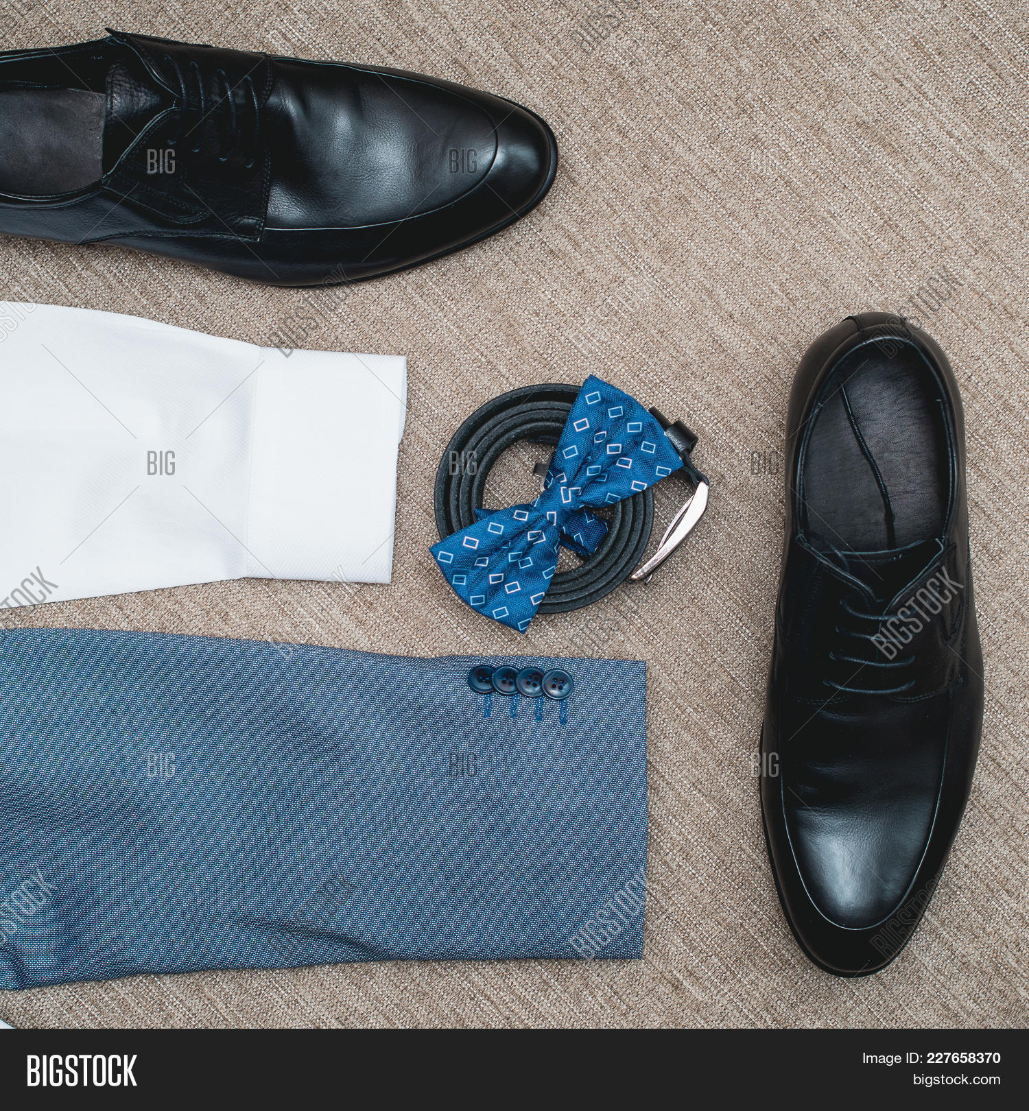 Suit, Blue Bow Tie, Image & Photo (Free Trial) | Bigstock