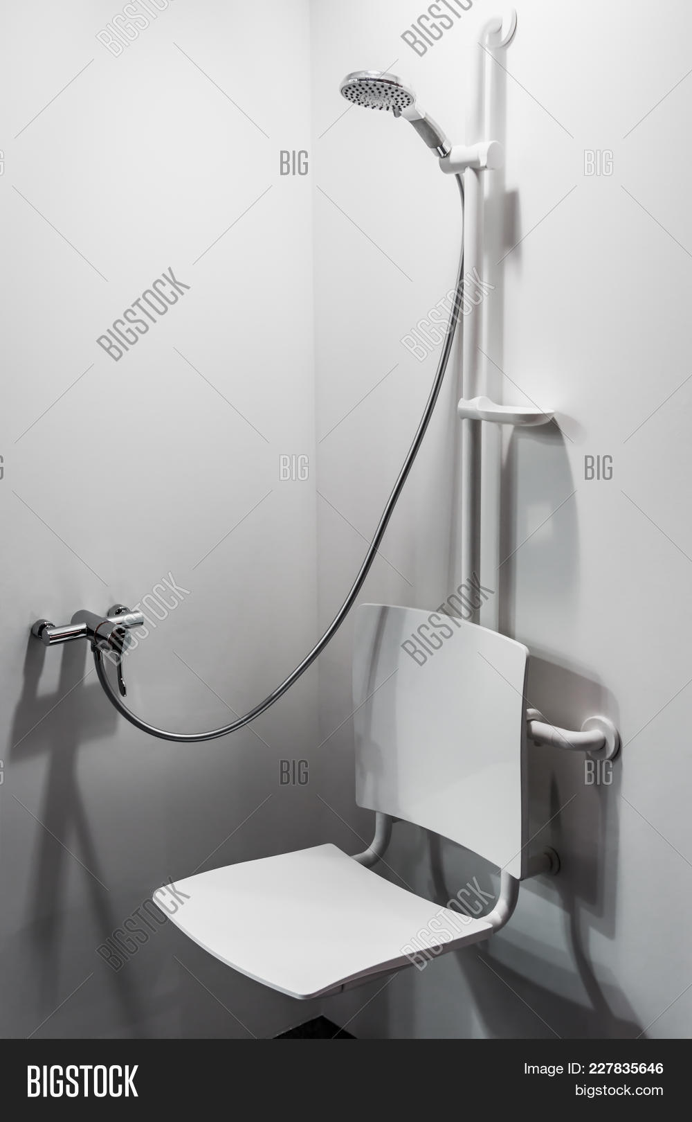 Shower Seat Grab Bars Image & Photo (Free Trial) | Bigstock