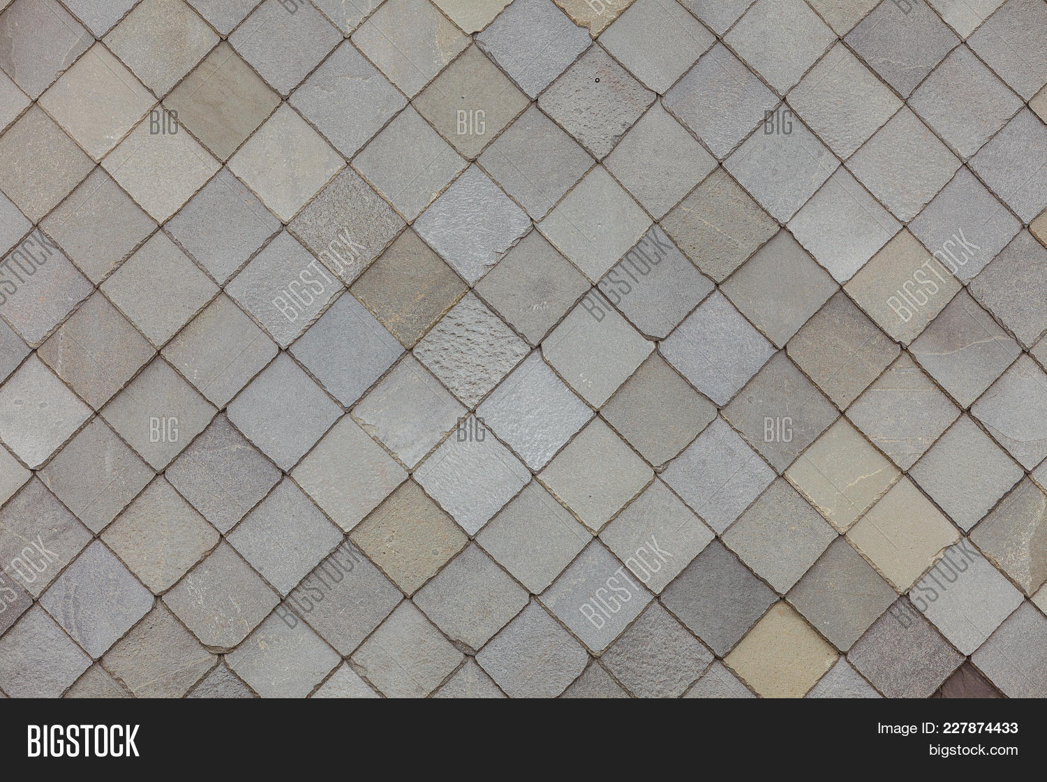 Brown Stone Tiles Roof Image Photo Free Trial Bigstock