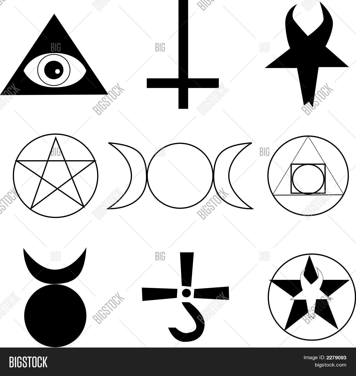 Pagan Symbols Vector Photo Free Trial Bigstock