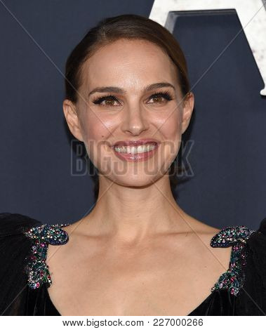 LOS ANGELES - FEB 13:  Natalie Portman arrives for the 'Annihilation' Los Angeles Premiere on February 13, 2018 in Westwood, CA