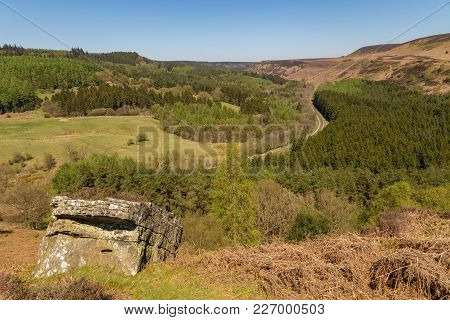 View From Skelton Tower Over The North York Moors National Park Near Levisham, North Yorkshire, Engl