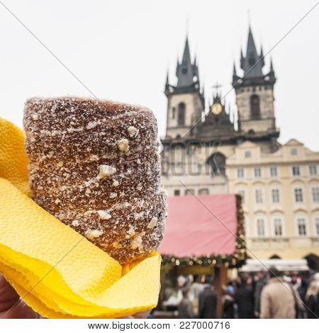 Trdelnik Is A Traditional Sweet Czech Pastry