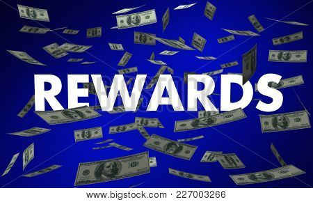 Rewards Money Back Falling Bonus 3d Illustration