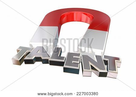 Talent Magnet Attracting Right Best People Candidates 3d Illustration