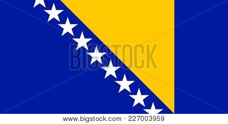 Flag of Bosnia and Herzegovina. Symbol of Independence Day, souvenir sport game, button language, icon.