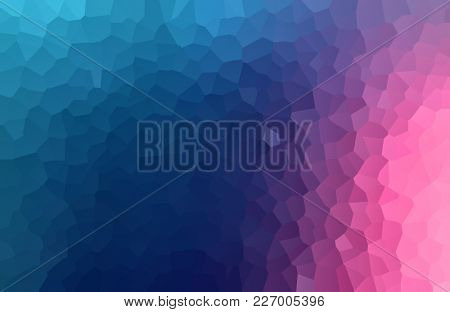 Gradient blue through magenta to pink background with crackle texture of irregular polygons in a full frame view