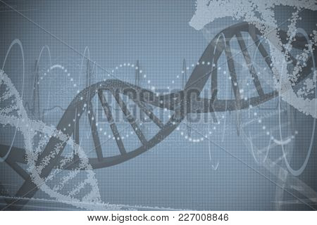 Red spiral dna pattern over white background