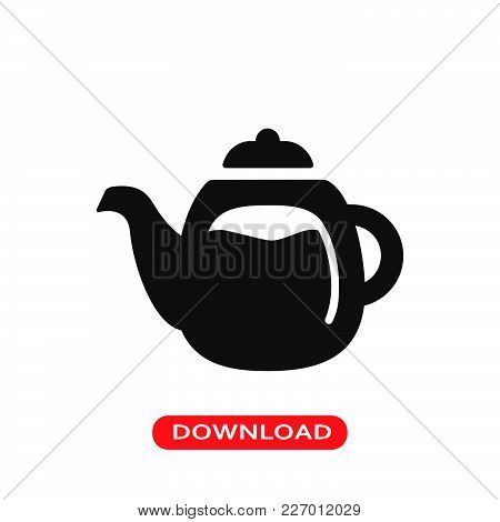 Coffee Jar Icon Vector In Modern Flat Style For Web, Graphic And Mobile Design. Coffee Jar Icon Vect