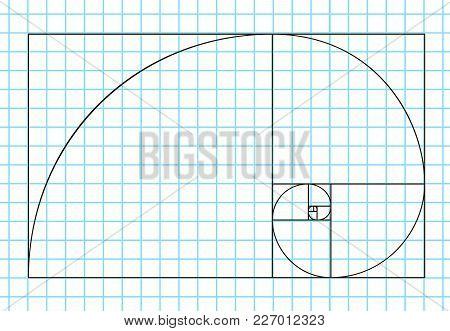 Golden Ratio Template Vector, Divine Proportions, Golden Proportion. Universal Meanings. Golden Spir