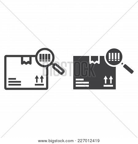 Tracking Parcel Line And Glyph Icon, Logistic And Delivery, Find Barcode Sign Vector Graphics, A Lin