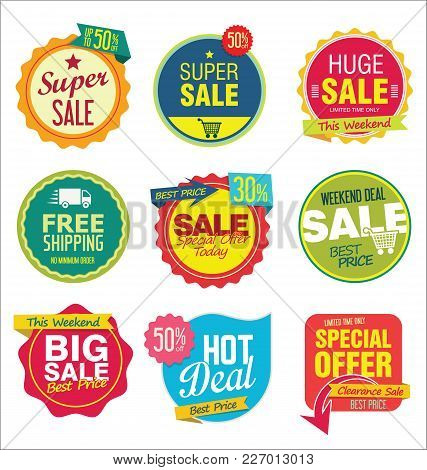 Modern Sale Stickers And Tags Colorful Collection 1.eps