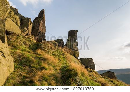 The Wainstones Near Clay Bank And Stokesley In The North York Moors, North Yorkshire, Uk