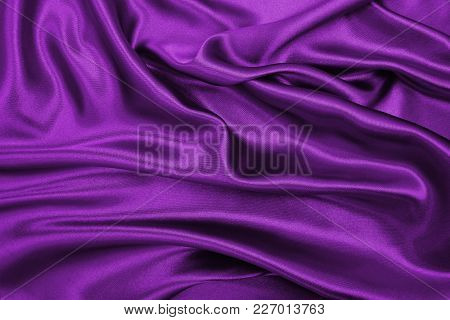 Smooth Elegant Lilac Silk Or Satin Luxury Cloth Texture As Abstract Background. Luxurious Background