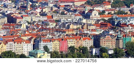 Panoramic View Of Prague The Capital Of Czech Republic