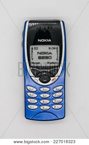 Used Nokia 8290 Mobile Phone. Bangkok, Thailand - Feb 10, 2018:  Nokia 8290 Was A Variant Of The Nok