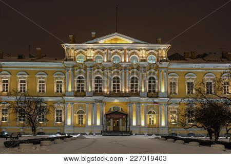 Suvorov Military School. Saint-petersburg, Russia. The Building Of The Vorontsov Palace, Built In 17