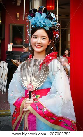 Unidentified Woman With Chinese Traditional Dress