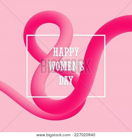 March 8. Happy Women's Day Blended Interlaced Fluid Background