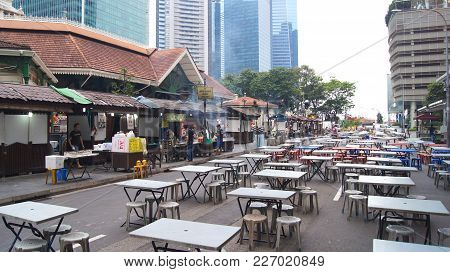 Singapore - Apr 3rd, 2015: Lau Pa Sat Festival Market Was Formerly Known As Telok Ayer Market - Now
