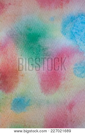 Multicolor Watercolor Hand Painted Background. Abstract Acrylic Texture And Background For Designers