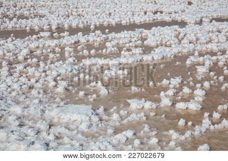 Salt Flats At Saltworks In Marsala On Sicily. Italy