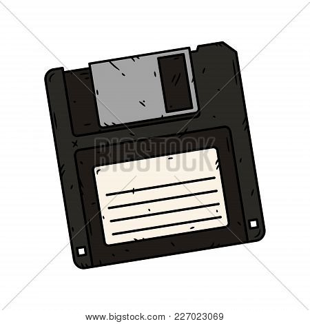 Floppy Disk Vector On A White Background. Vector Illustration