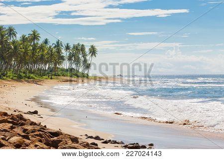 Sri Lanka, Asia, Rathgama - Calming Natural Beach Landscape Of Rajgama Aka Rathgama