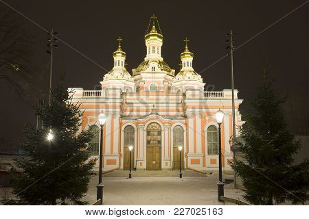 Exaltation Of The Cross Cossack Cathedral Of The January Night. Saint Petersburg, Russia
