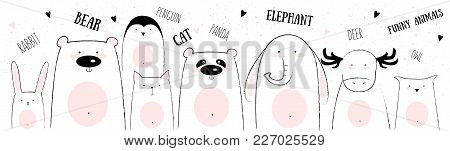 Vector Card Of Cute Animals