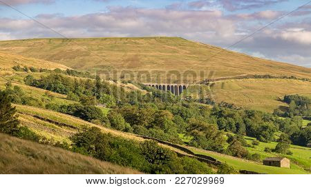 The Dent Head Viaduct On The Settle-carlisle Railway, Seen From Cowgill In The Yorkshire Dales, Nort