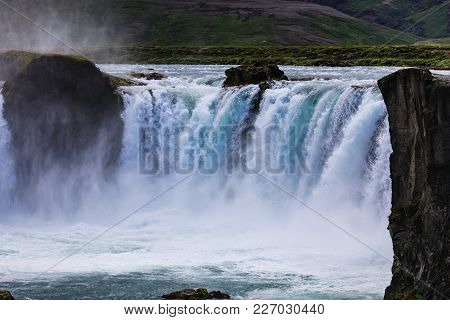 Famous Godafoss Is One Of The Most Beautiful Waterfalls On The Iceland It Is Located On The North