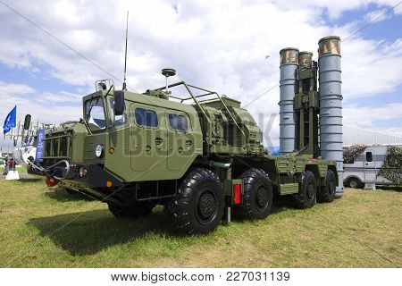 Zhukovsky, Russia - July 20, 2017: The Launcher Of The Russian Antiaircraft Missile System S-400