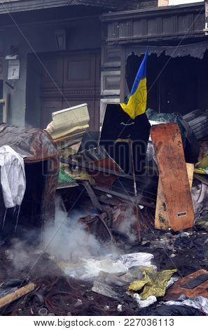 Gay activists pro-Poroshenko riot. Gays for war against Russia and Eastern Regions. So-called Revolution of Dignity.Vandalism in downtown. April 19, 2014 Kiev, Ukraine