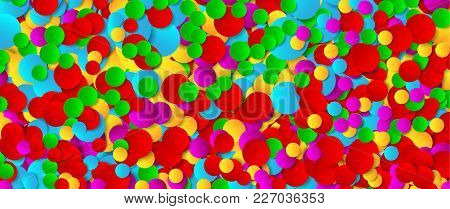Multicolored Festive Paper Confetti Background. Vector Illustration For Decoration Of Holidays, Post