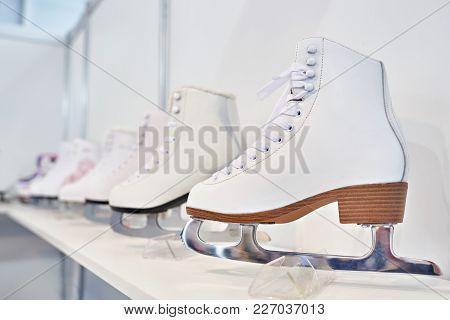 Skates For Figure Skating On Show Window