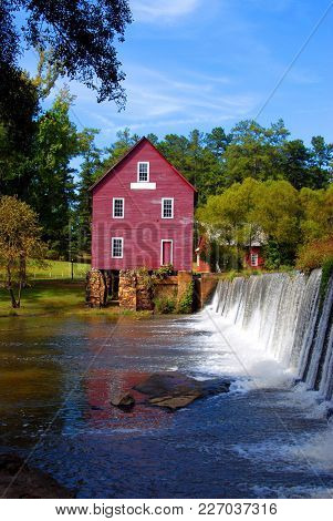 Grist Mill Background Landscape At Georgia, Usa